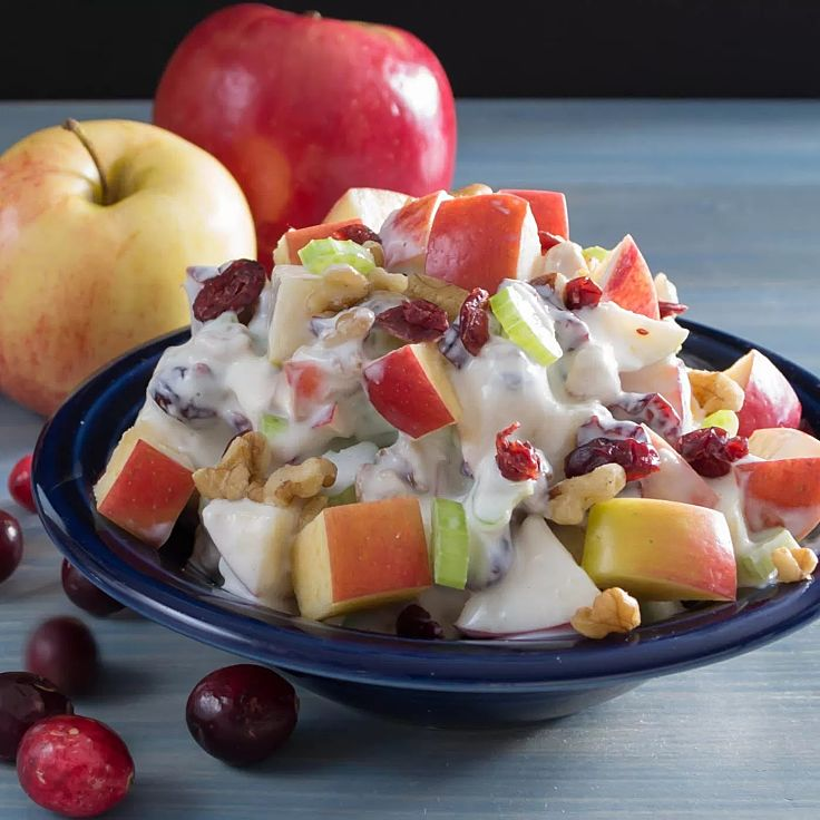 Ambrosia Fruit Salad with fresh and dried fruit