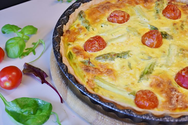 Asparagus pairs well with eggs and is delightful in flans and quiches