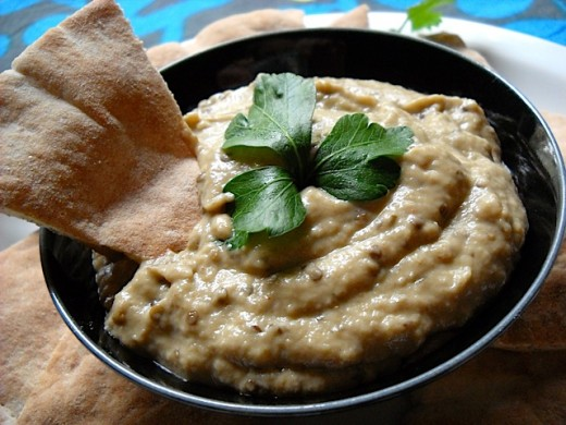 Leaving the grilled eggplant in small pieces add a lovely texture to a homemade Baba Ganoush dip