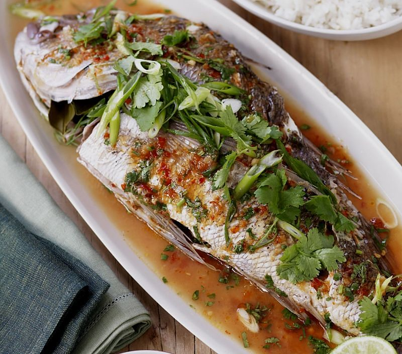 Thai baked fish