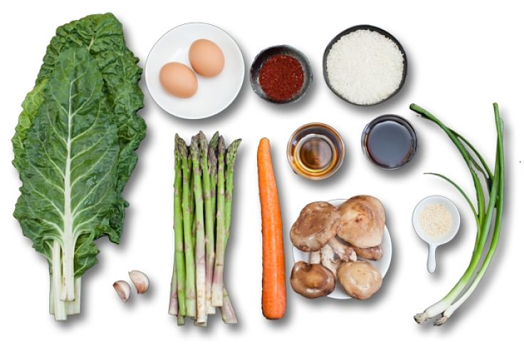 Vegetable bibimbap ingredients - see the great recipes here in this article