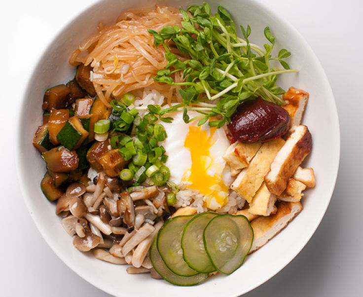 You can make your own choice of vegetable ingredients to include in your homemade bibimbap