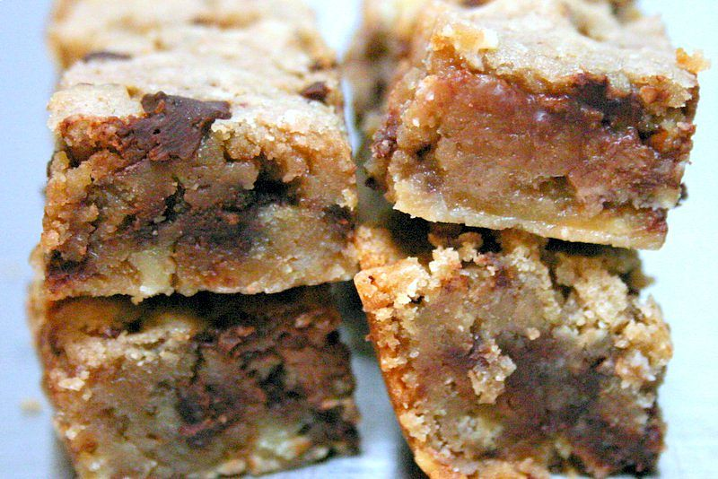 Decadent Alcohol soaked fruit blondies