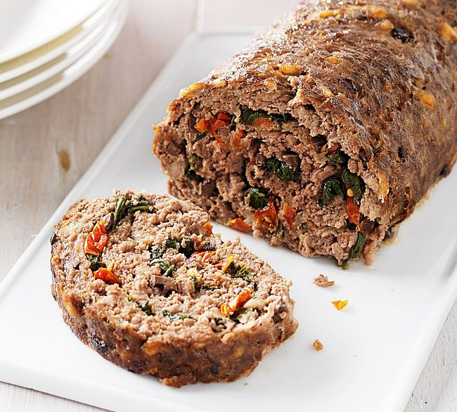 Rolled meatloaf with spinach and herbs - learn how to make it here