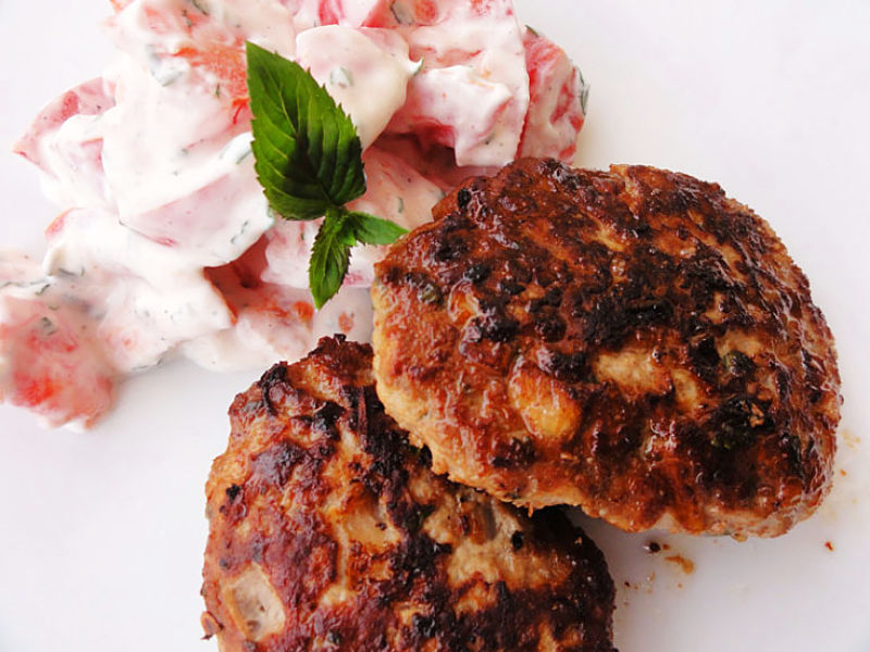 Beef potato cakes or rissoles make a hearty meal or snack