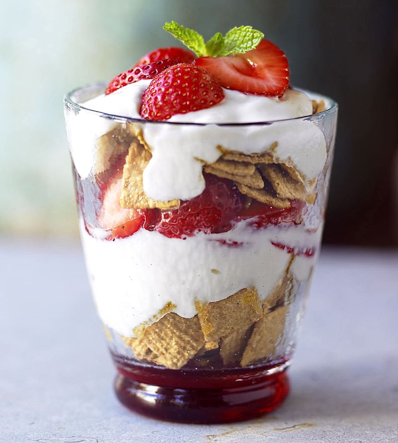 You can add breakfast cereals to your fruit trifle for a lovely breakfast treat