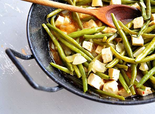 Tofu is ideal for stir-fry dishes