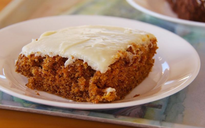 The carrot cake mixture can be used to make delightful iced slices for snacks, parties and coffee and tea breaks flipped to finalise the cooking.