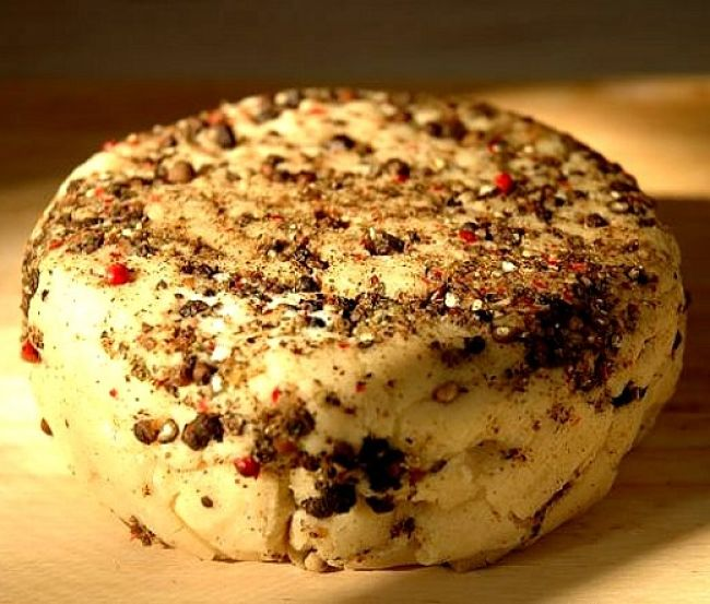What the recipes will produce. A delightful cashew cheese block full of flavor with a delightful texture that can be used anyway that you use dairy cheese