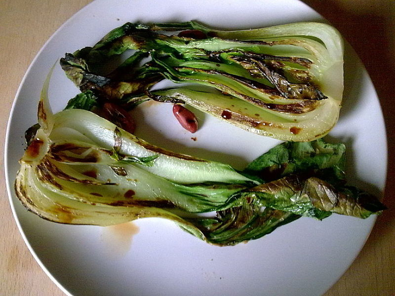 You can even barbecue Bok Choy and other Chinese vegetables