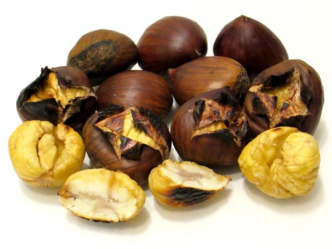 Freshly roasted chestnuts are delicious and easy to roast in a pan over and open fire, on the barbecue or in the oven. Learn how here.