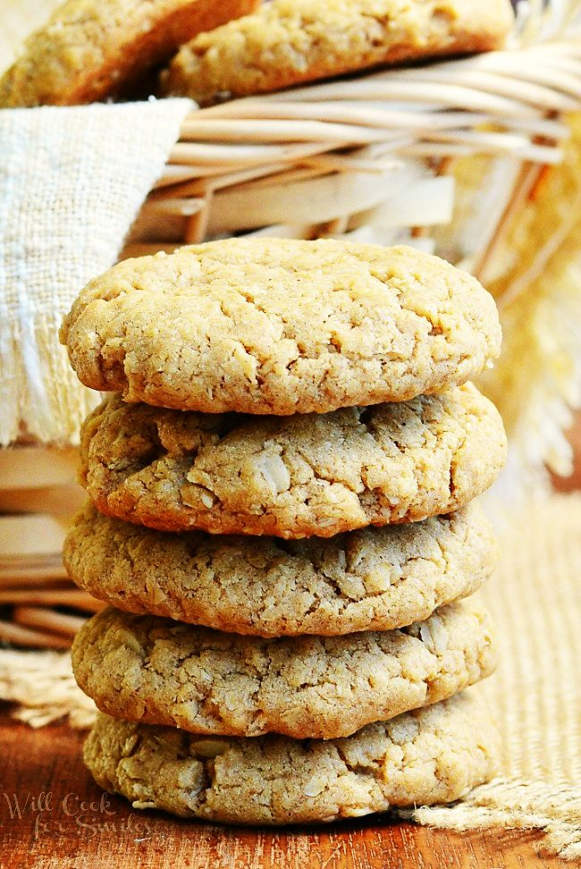 Soft Almond Butter Oatmeal Cookies - see more recipes here