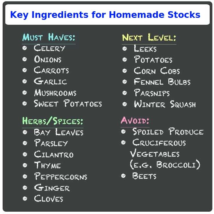 Key ingredients for homemade stock. See the wonderful array of stock recipes in this article