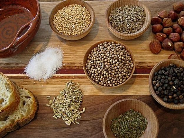 Dukkah can be easily made at home from a variety of easily accessed spices and nuts