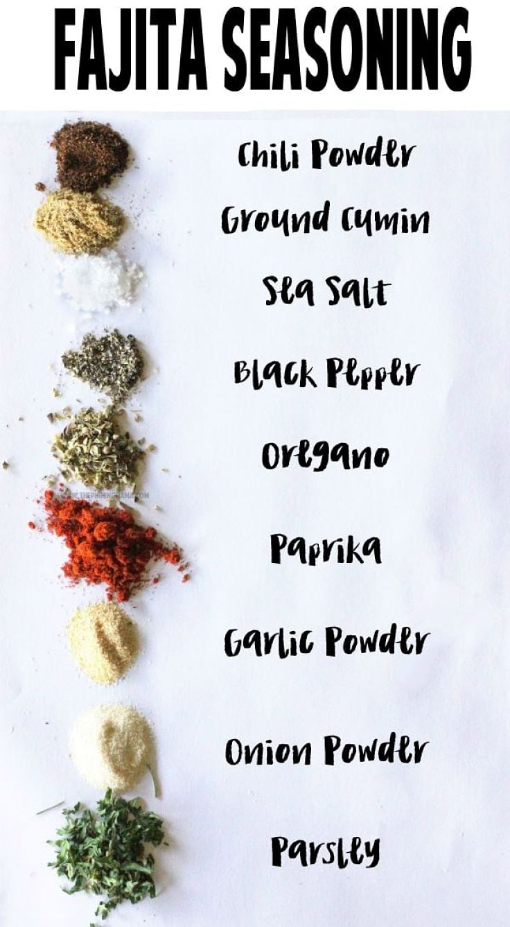 Ingredients for classic Mexican Fajita spice mix - see the recipes in this article
