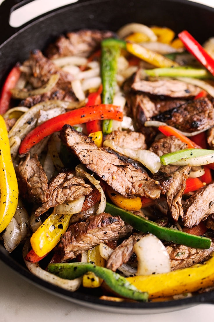 Fajita Steak recipe - a beautiful use for the spice mix you can make at home using these grest recipes