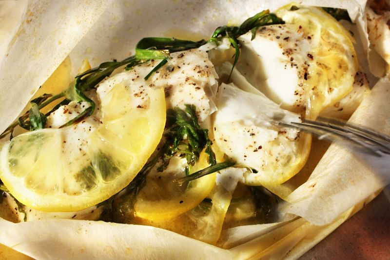 Fish cooked in parchment retains the delicate flavor and appeal of fresh fish