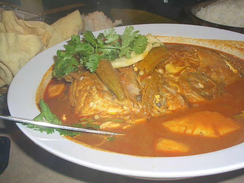 Curries enhance the flavor of fish