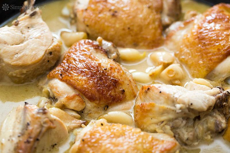 A gourmet garlic sauce makes a chicken dish and absolute delight.