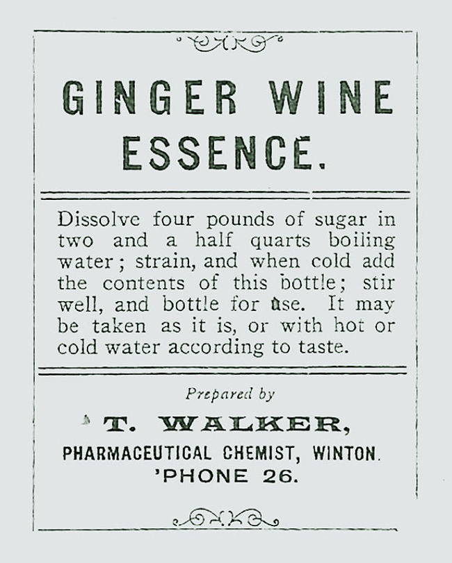 Early ginger wine recipe - It is not new!.