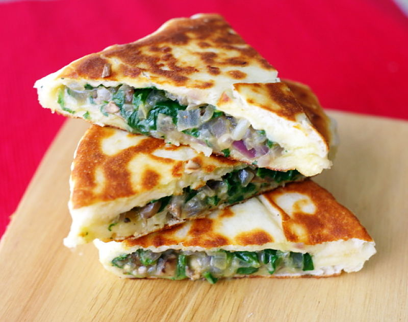 Thicker flat bread makes gozleme and full meal, especially for a tasty lunch