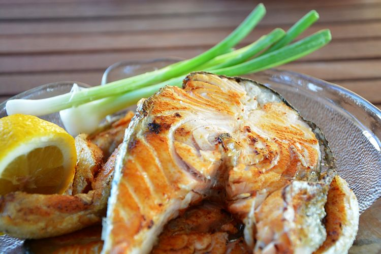Grilled fish with is a delightful way to cook fish retaining the delicate taste and texture of fish