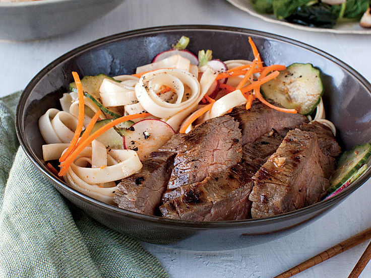 Hoisin Grilled Flank Steak with Noodle Salad