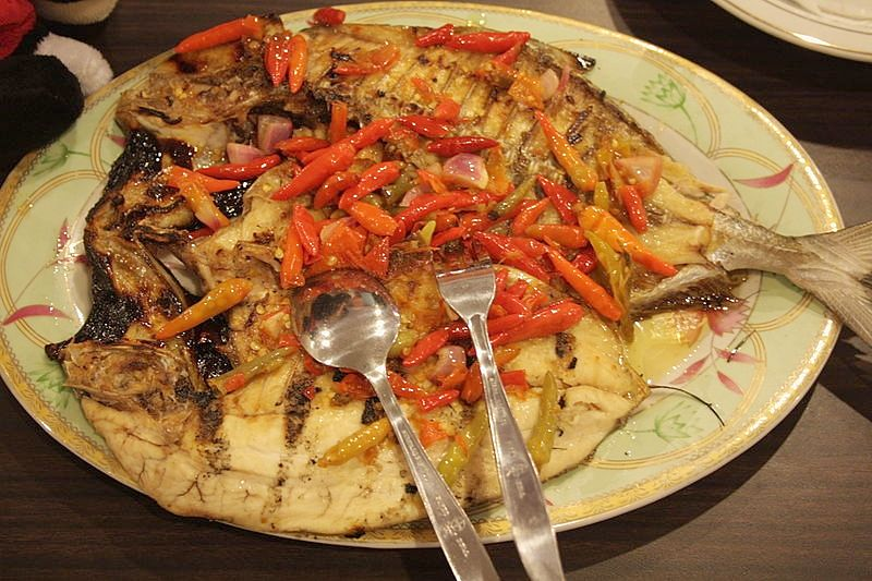 Fish Dish with Hot Chillies