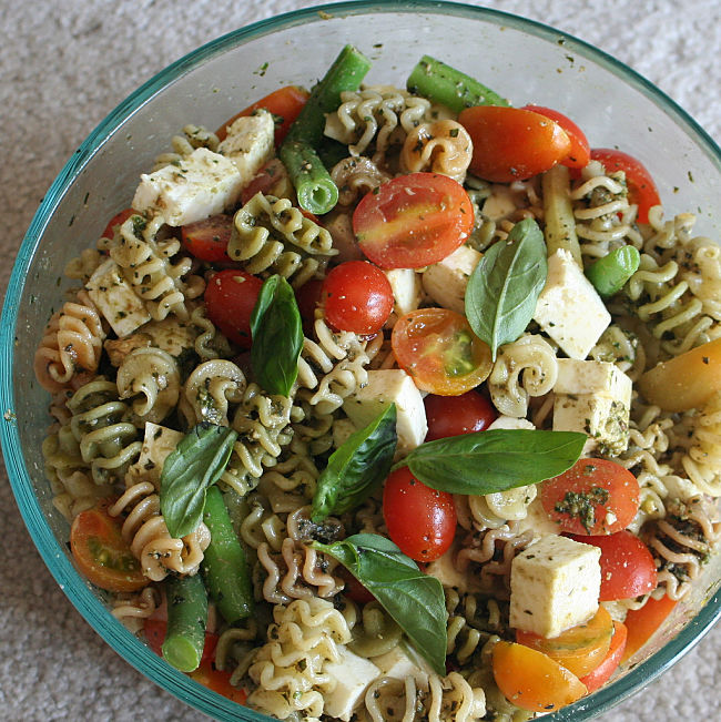Pesto is just perfect for pasta