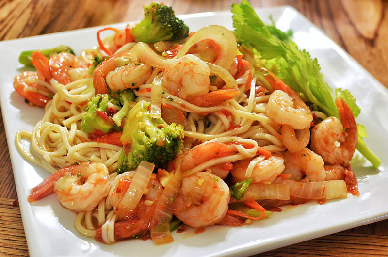 Stir-frying is a great way to prepare seafood dishes