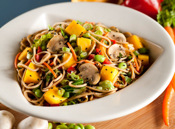 Mango Vegetarian stir-fry - what a delight