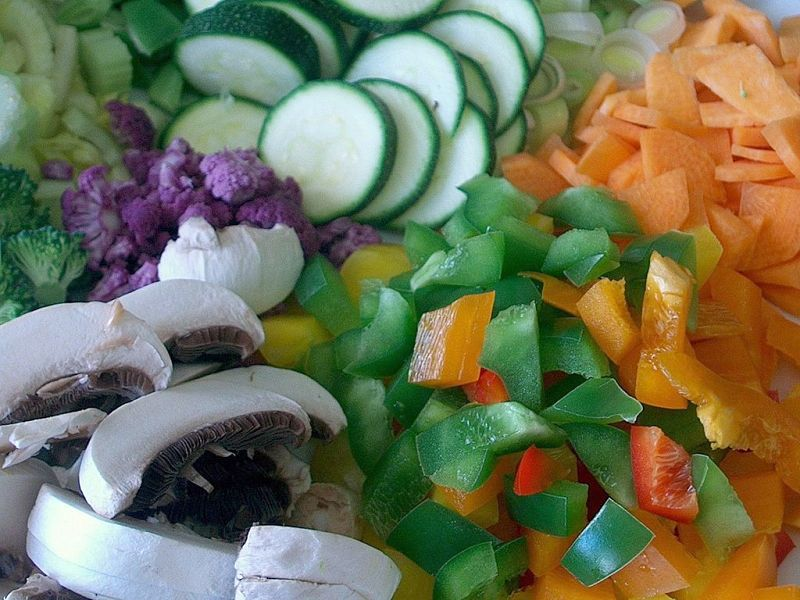 Vegetable stocks are easily made at home by finely chopping the vegetables and by using left-overs