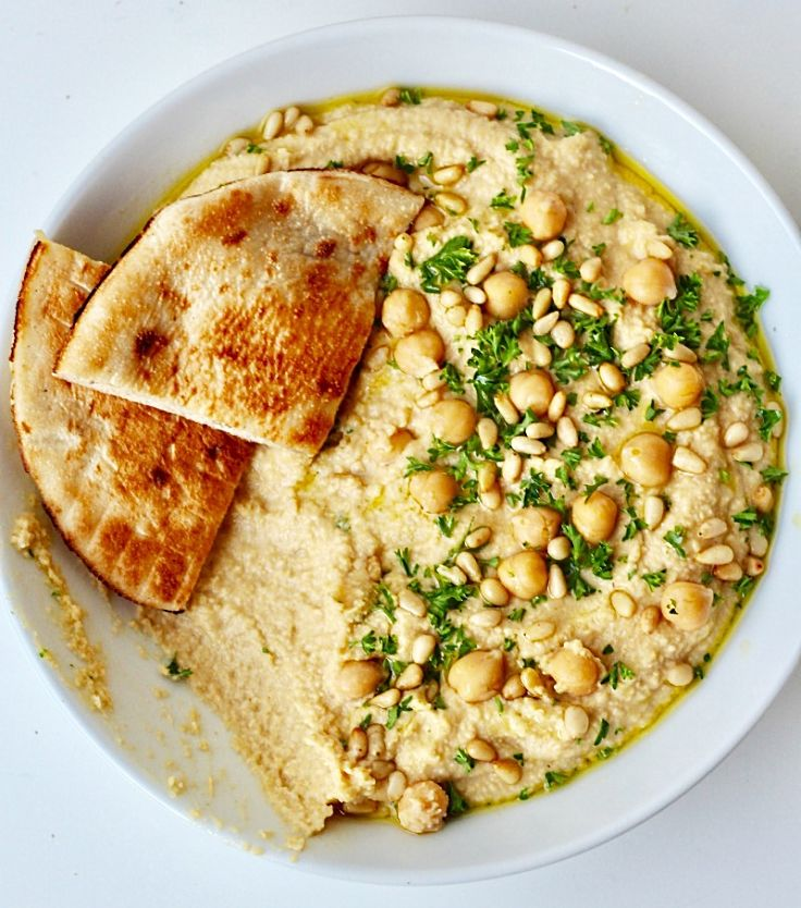 Homemade hummus is very healthy - see the nutrition chart for proof