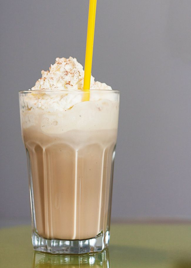 Iced coffee makes a wonderful base for a dessert with a mixture of different ice creams
