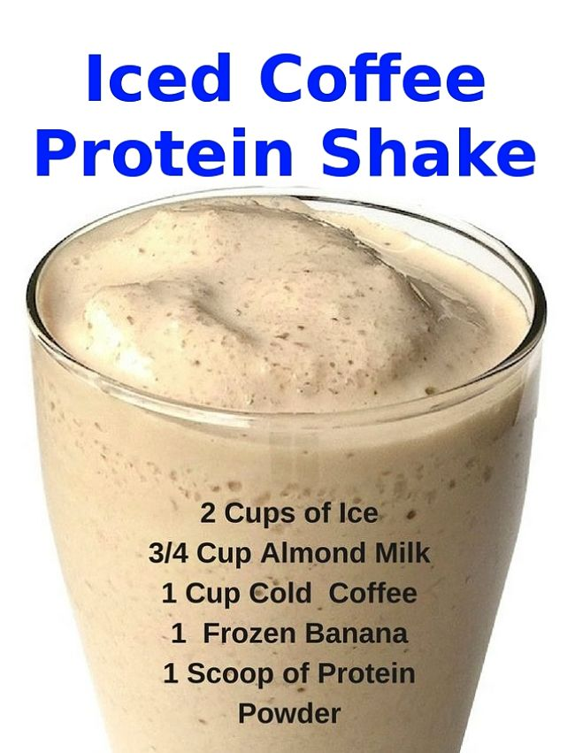 Iced Coffee Protein Shake - One of the many variation on the great collection of Iced Coffee Recipes and Ideas in this article
