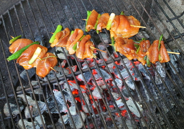 Yakitori can be cooked in an electric or gas grill, a charcoal grill or barbecue