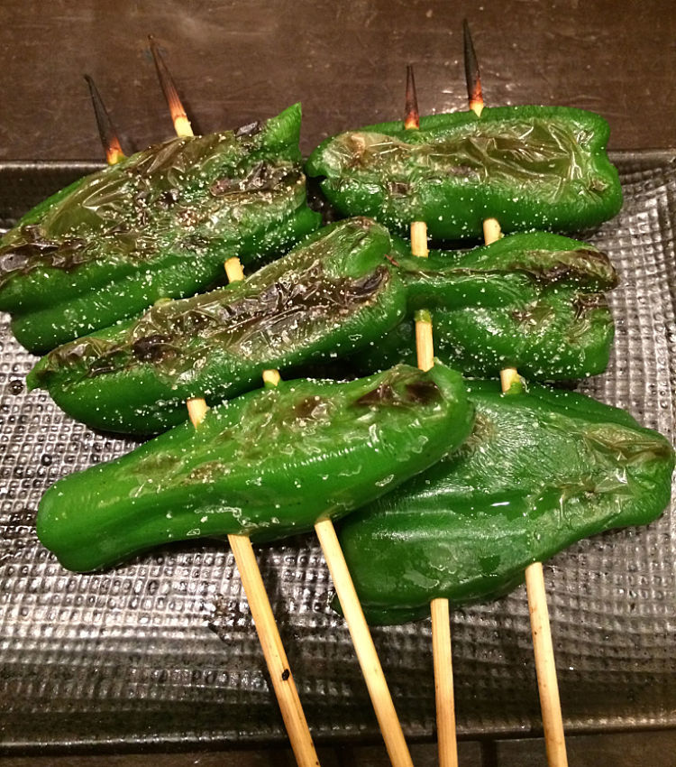 Yakitori can be made with vegetables