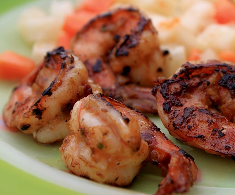 Jerk prawns and shellfish is a fabulous apertizer that your guest will love