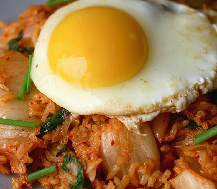 Adding whole foods to Kimchi fried rice boosts the nutrients. You can add a variety of fresh chopped vegetables, chillies and herbs.