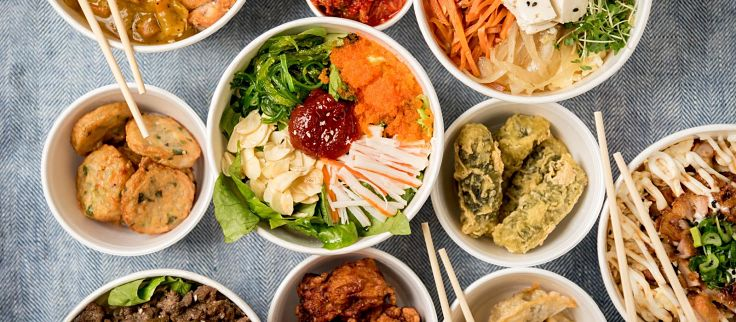 Korean Barbecue features a delightful range of fresh ingredients