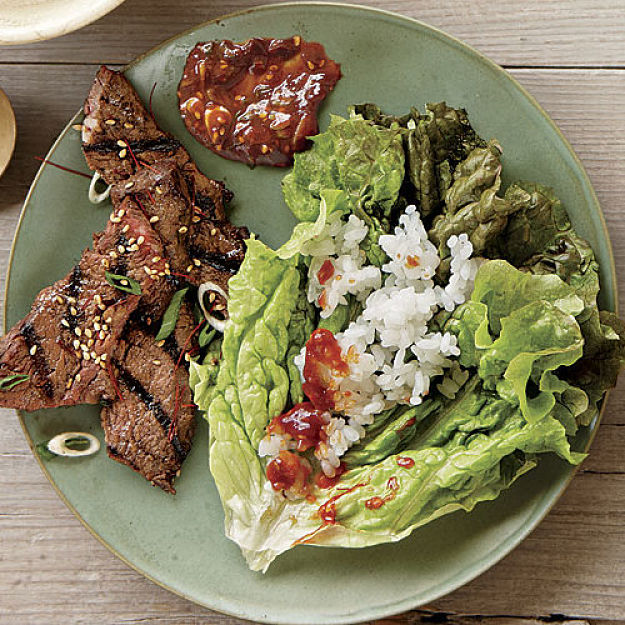 Korean Barbecued Beef Short Ribs served with fresh Asian salad - delicious and so healthy