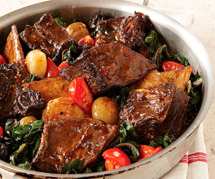Sake braised Short Ribs cooked Korean Style with special spices - see the recipe in this article