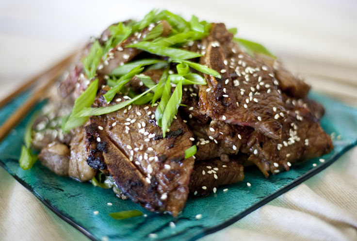 Herbs, sesame seeds and unique spice mix makes Korean style short ribs a special dish for the whole family