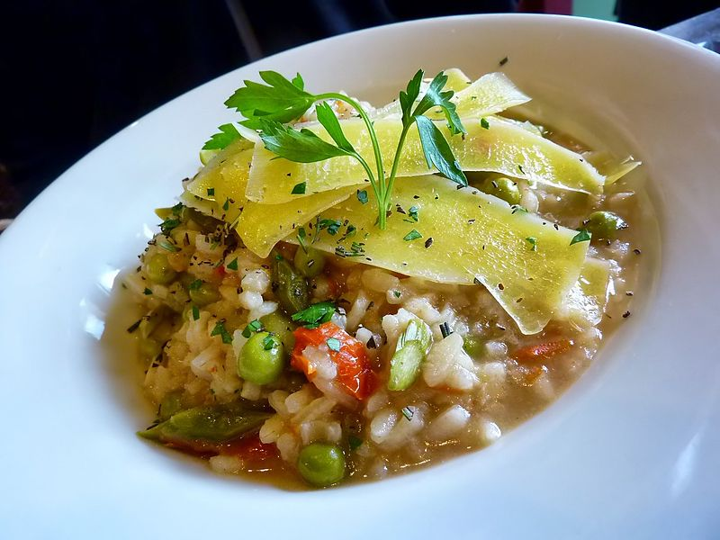 Quick Leek and Herb Risotto Recipe, Cooked in Microwave