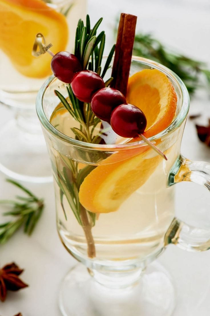 Use rosemary and other fresh herbs to enhance the taste of mulled white wine