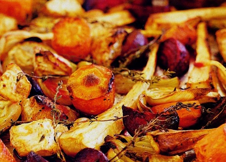 Beautiful collection of oven roasted vegetables. What a delight!