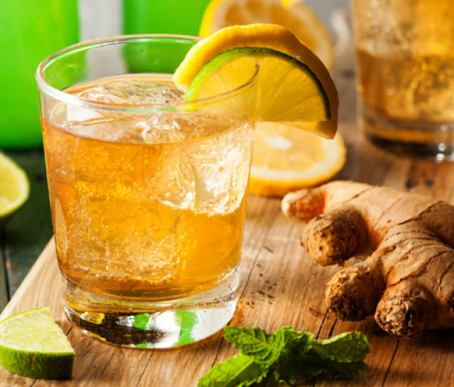 Ginger beer is a delightful way to showcase the taste and aroma of fresh ginger and herbs such as mint. It is very refreshing and you can control the sugar content