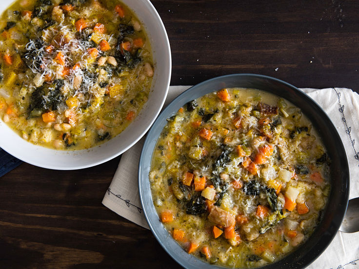 Lovely Ribollita stew is a thickened version of the Classic Tuscan Dish