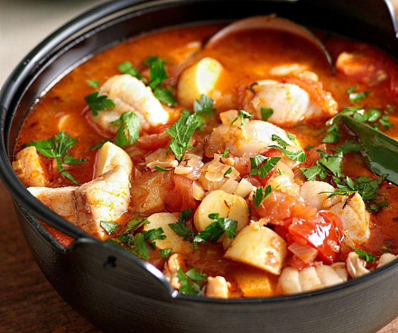 Catalan Fish Stew with Romesco Sauce