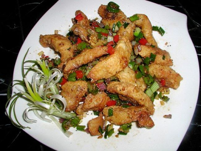 Delightful Salt and Pepper Squid Dish with herbs and chillies